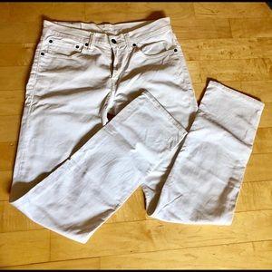 Levi's White Denim Jeans